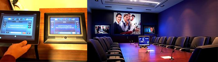 Alat audio visual terintegrasi dapat dioperasikan dengan satu remote monitor sentuh
