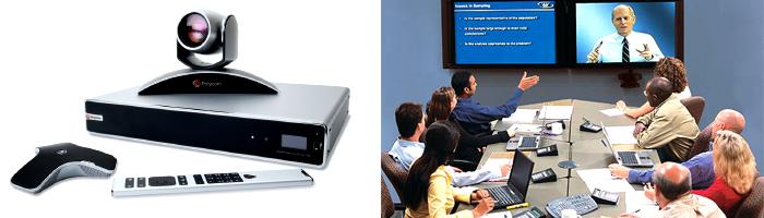 Alat konferensi video memungkinkan kita berkomunikasi langsung berbagai lokasi sekaligus