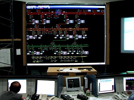 Aplikasi video display, wall screen untuk kegiatan pembangkit tenaga listrik