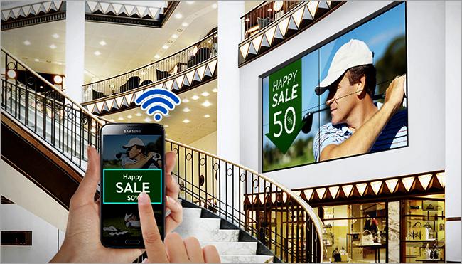 Pengaturan Samsung video wall Indonesia dengan mudah melalui handphone secara wireless
