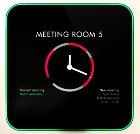 Warna monitor hijau merah tanda dipakai tidaknya ruangan rapat tsb.