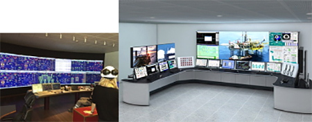 Control room ruangan monitor untuk pipa gas