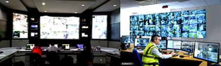 Control Room untuk mengawasi situasi keamanan