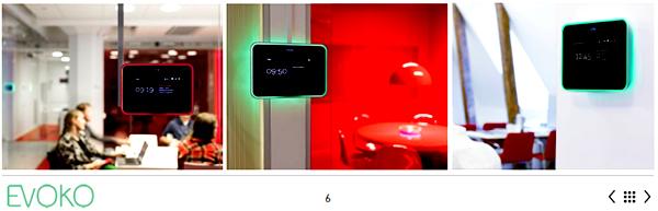 Evoko Room Booking System dengan indikator lampu