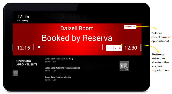Room Booking System Indonesia. Merah ruangan dipakai