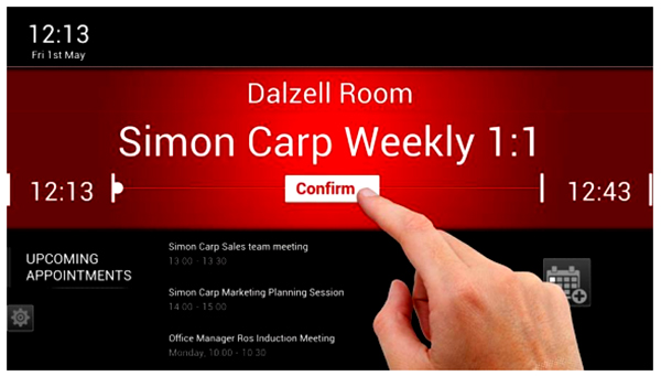 Meeting room booking confirmation