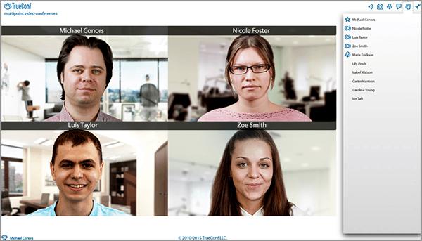 Trueconf Webrtc. Orang dapat mengikuti video conference via web
