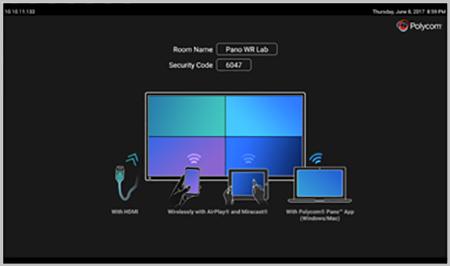 Jual alat presentasi Wireless Polycom Pano. Kolaborasi wireless dari berbagai media