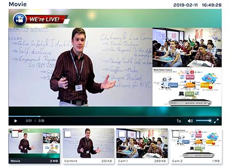 Sistem-pembelajaran dengan pengajaran-online-tampilan-pada-monitor