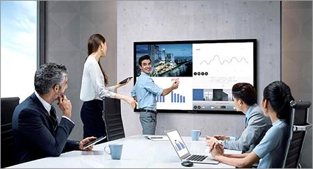 Papan-tulis-elektronik-interaktif-Maxhub-Presentasi-rapat