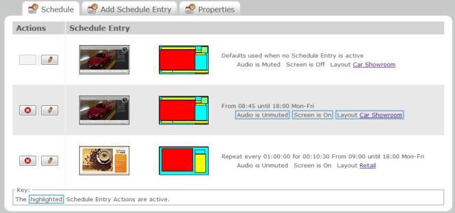 Tampilan Schedule pada NTB