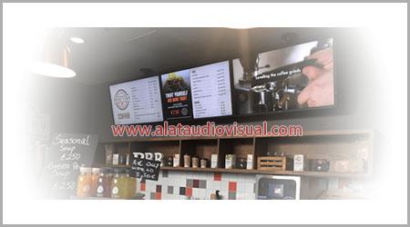 Jual digital signage monitor, digital signage indonesia, jual digital signage monitor indonesia, tentang digital signage indonesia, digital signage di restorang, digital signage di cafe, digital signage di tempat makan