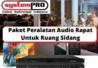 Paket Peralatan Audio Rapat Untuk Ruang Sidang