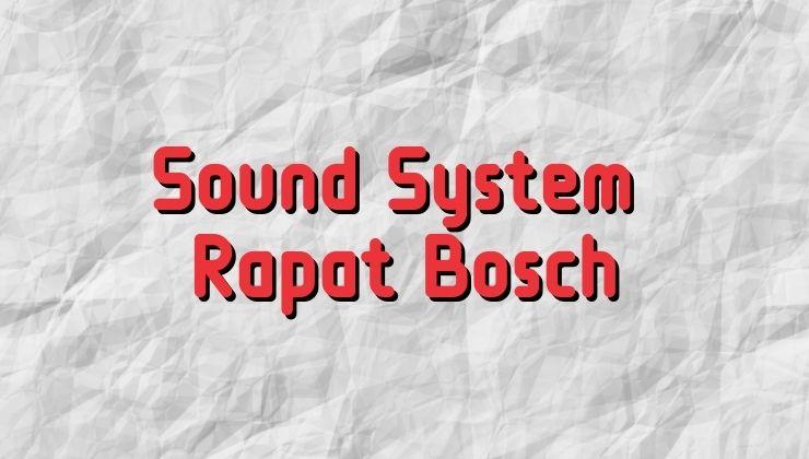 sound system rapat bosch